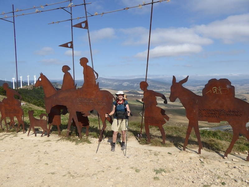 History of Camino is displayed in the sculpture at Alto del Perdon.