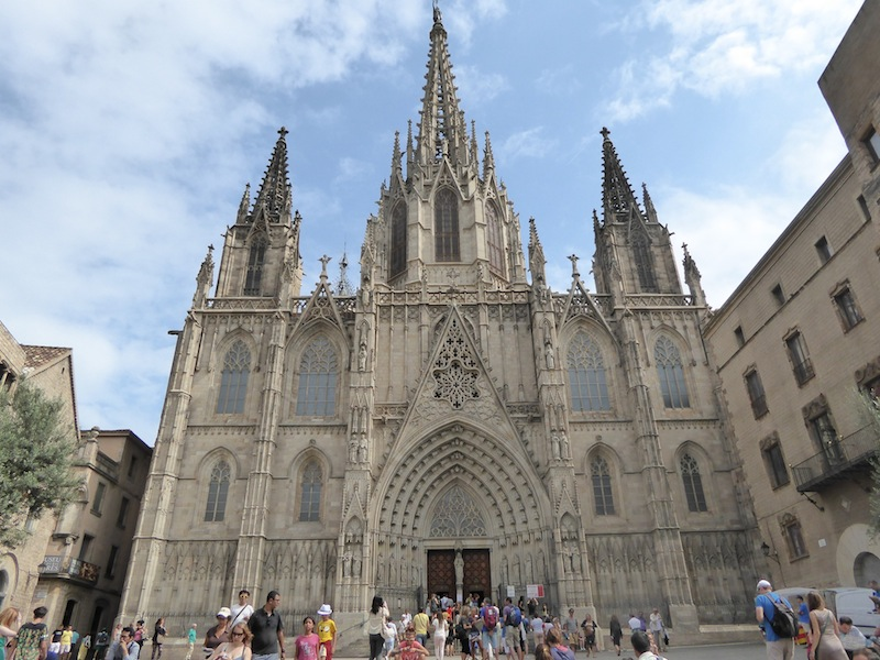 This is the Cathedral in Barcelona.