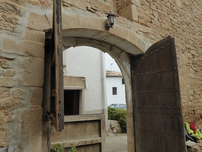 This is a 12th century door to the house.