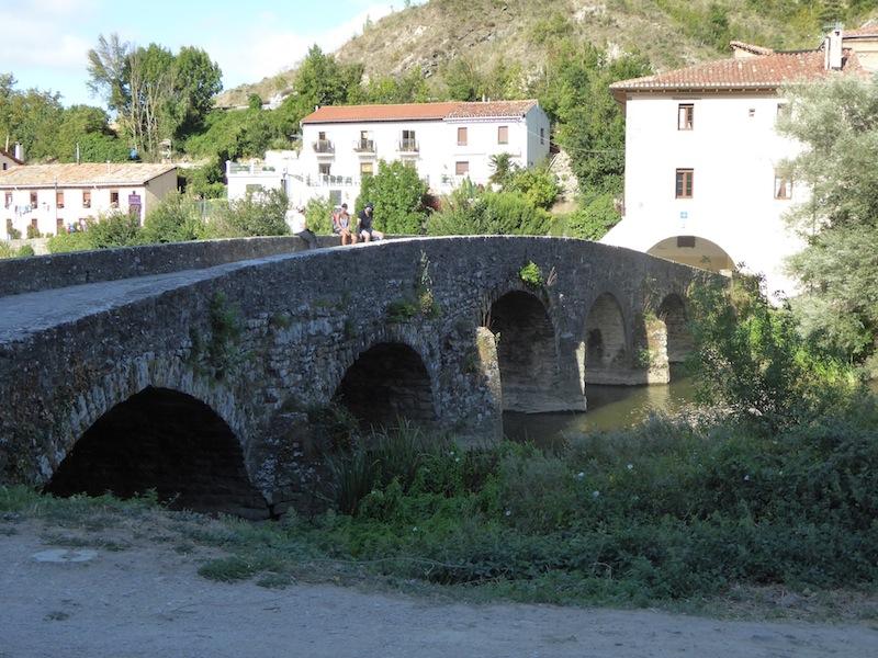 We crossed a stone bridge.
