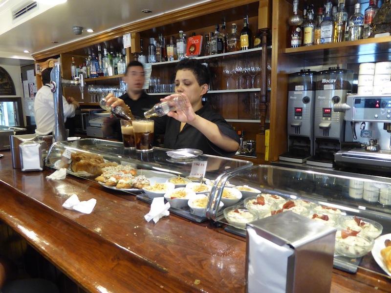 We enjoyed tapas in Pamplona.