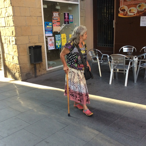 A woman shopping in Manresa