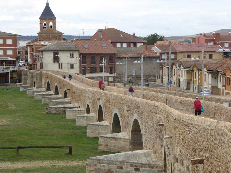 The bridge into Hospital del Orbigo..