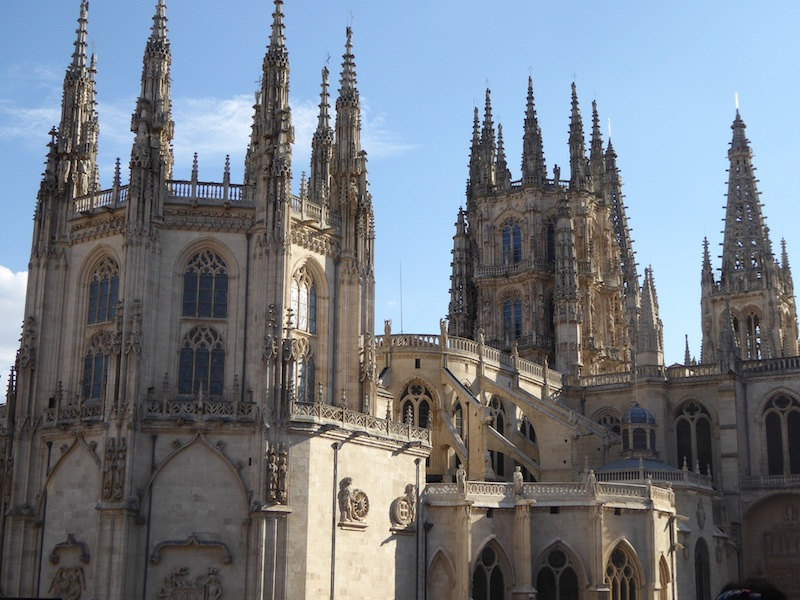 Burgos has a beautiful Cathedral.