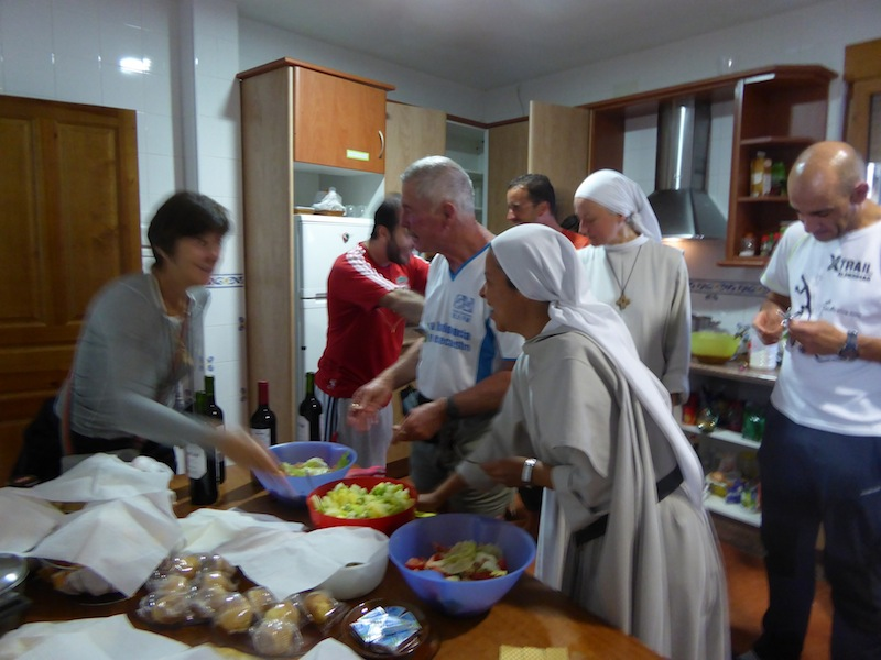 We cooked together at Santa Maria le Blance - Villacazar de Sirga
