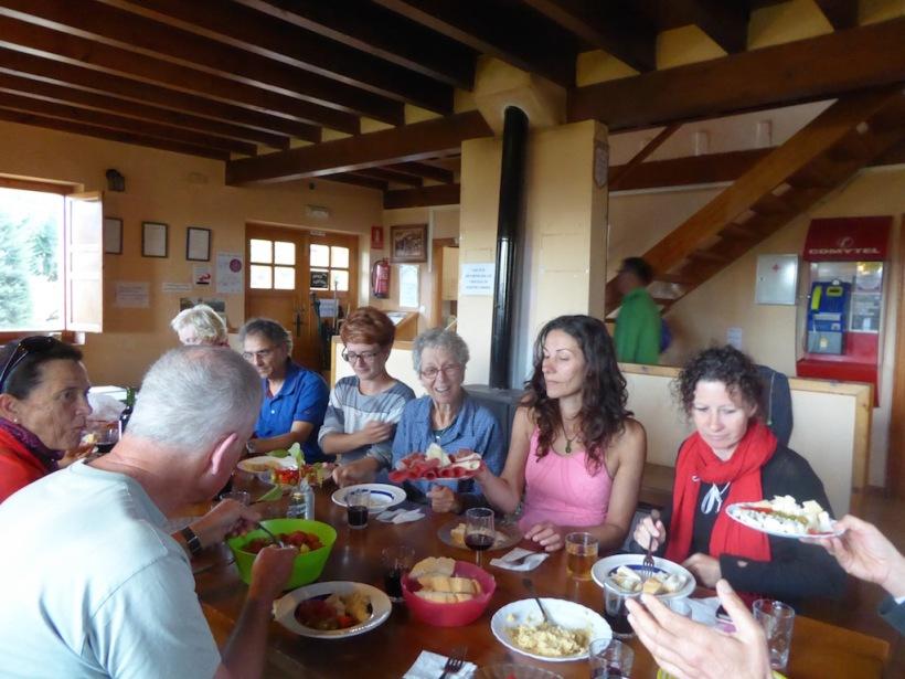We ate dinner at El Burgo Ranero.