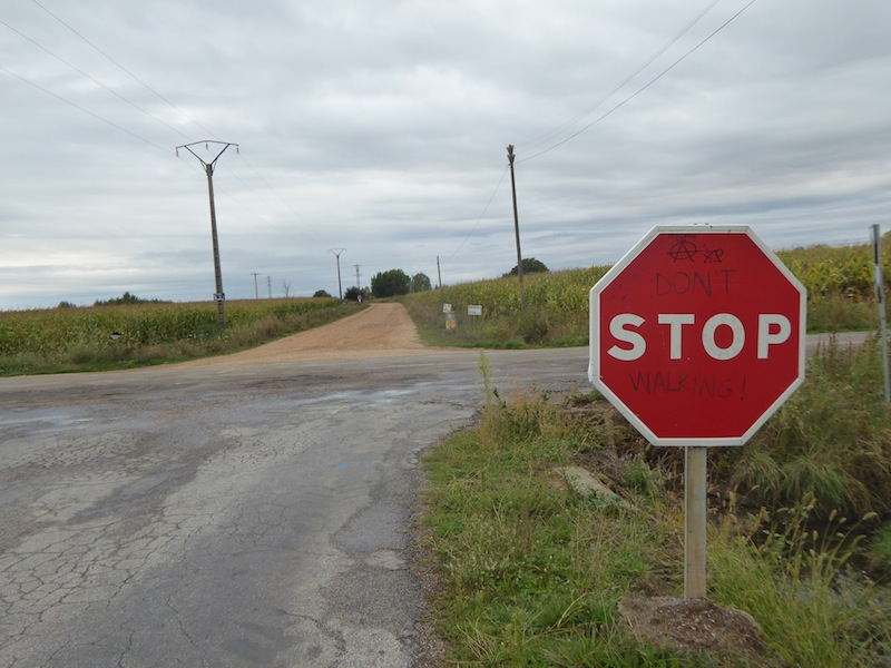 Stop signs in Spain are in English.