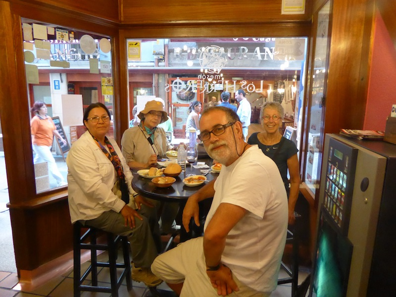 We ate tapas in Burgos.