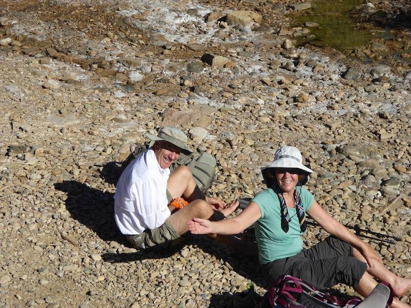 John and Helene were soaking their feet.