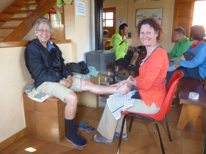 I got a foot massage at El Burgo Ranero.
