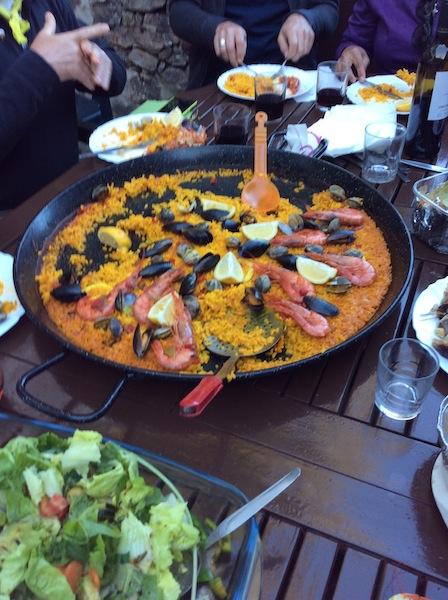 Paella was delicious.
