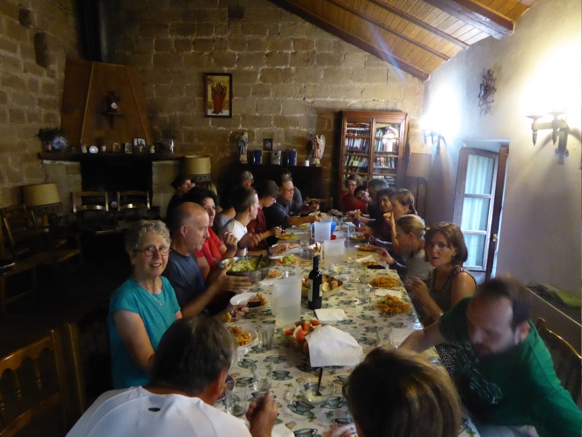 We shared a meal in Granon.