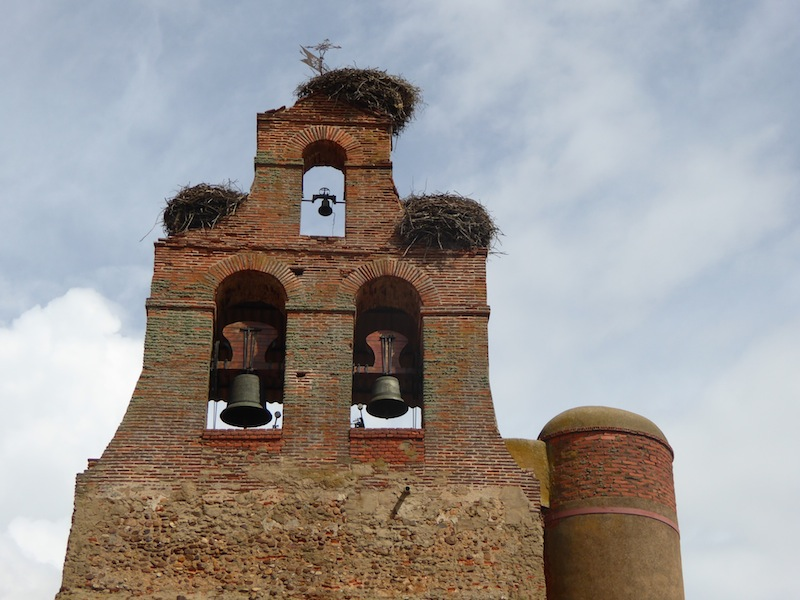 Most churches had stork nests on them.