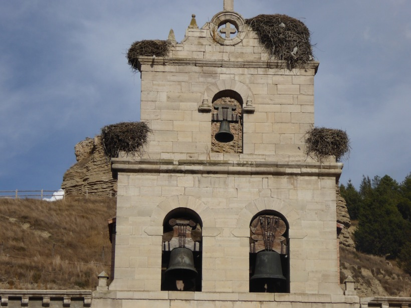There were stork nests on the churches.
