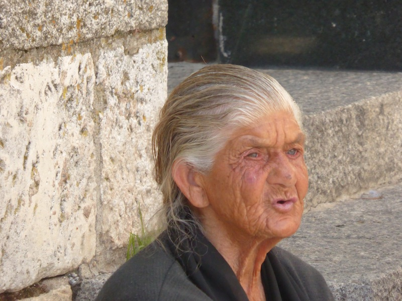 What a beautiful face on this woman in Burgos.