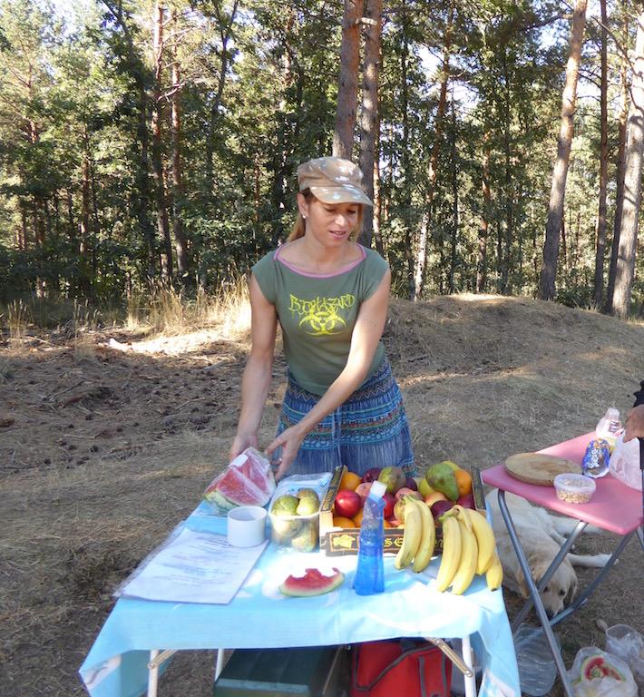 This woman had watermelon.