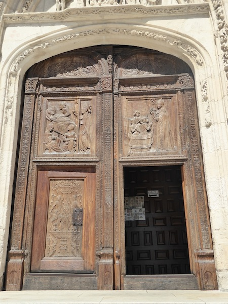 There were wooden doors to the church.