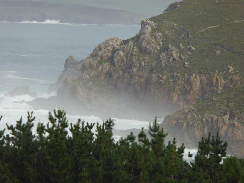 Cliff along ocean