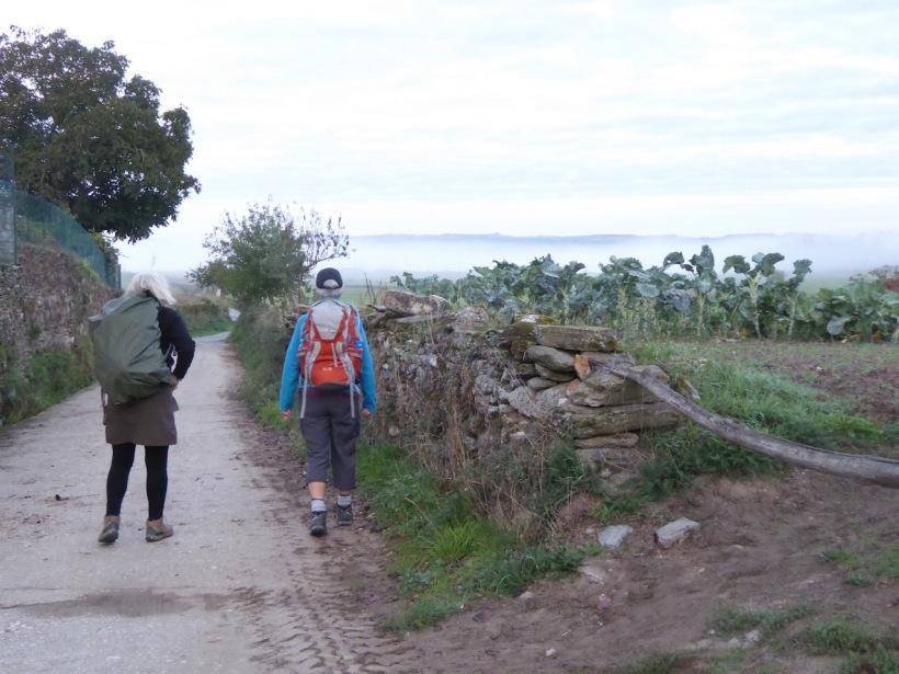 Ellie and Jan on road to Ventas de Naron