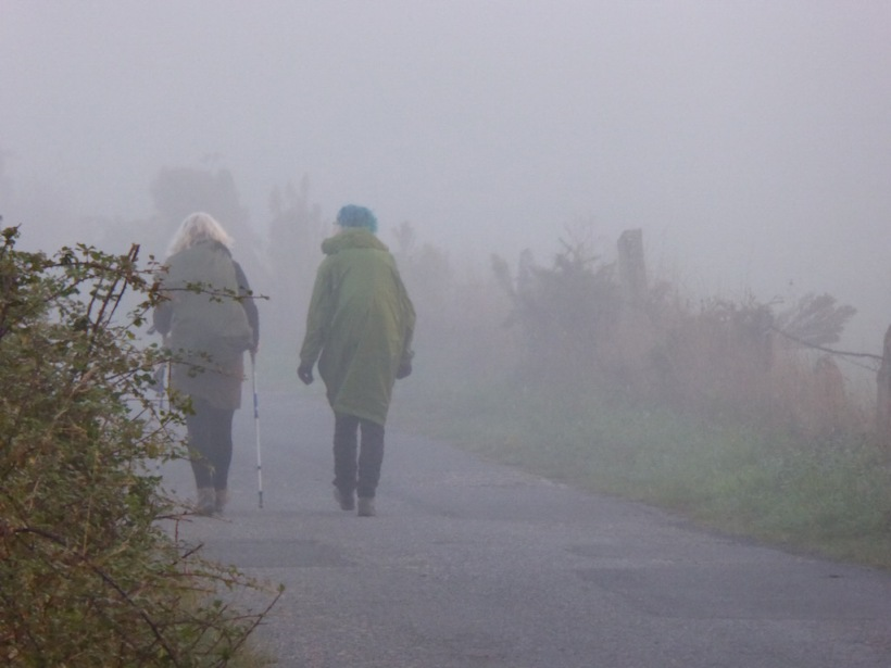 Kate and Ellie in the mist