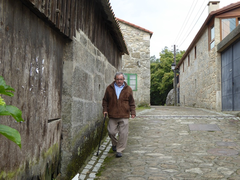 A local man on the way to Negreira