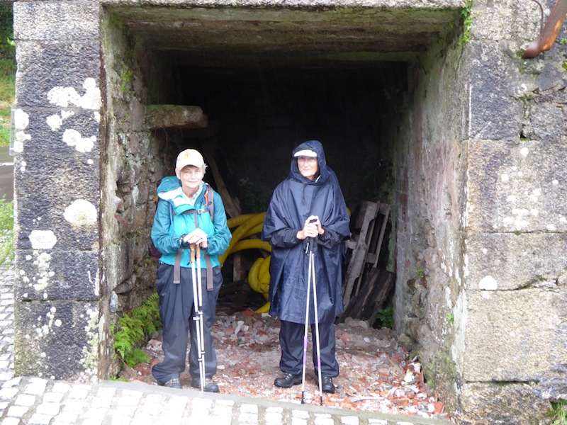 Maureen and Mary were waiting in the shelter on way to Cee.