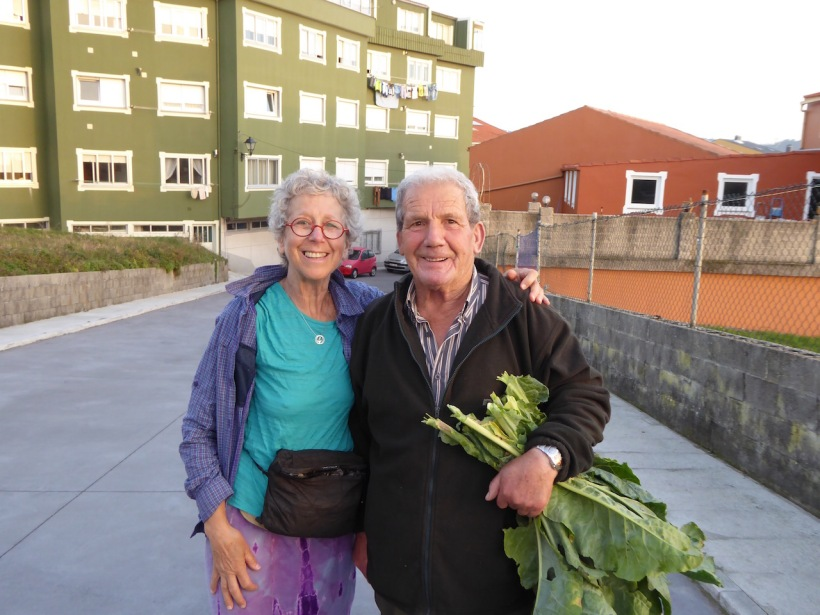 Nancy and Man with Kale