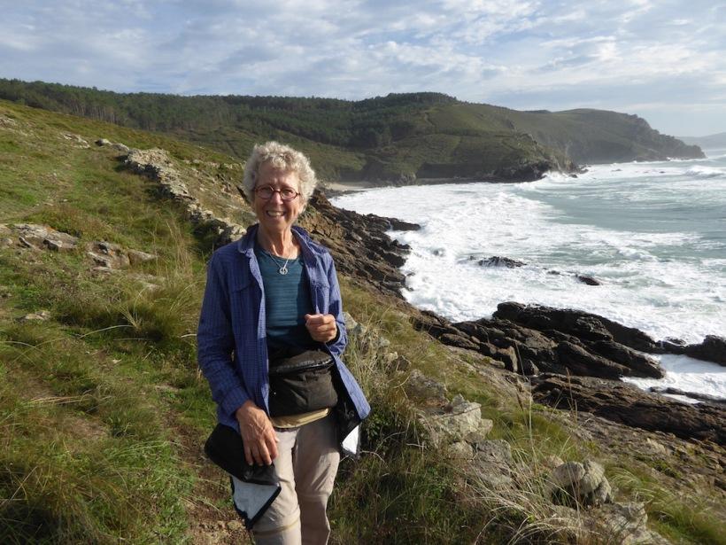 Nancy by shore in Muxia