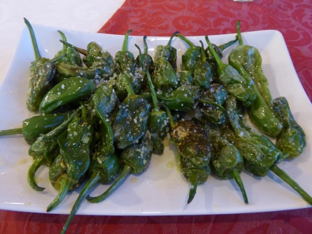 Peppers for dinner at Hotel Naturaleza in Finisterre