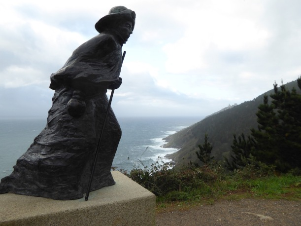 Pilgrim sculpture - Finisterre