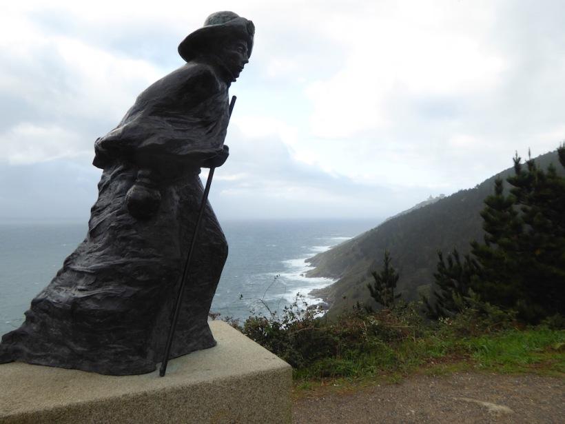 Pilgrim sculpture - Finisterre