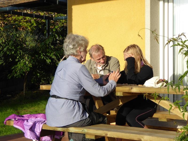 Rose having tea at Casa Riamonte in Augapesada.