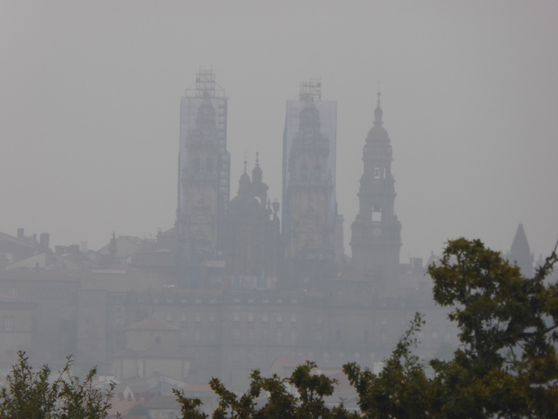 A view back on Cathedrial in Santiago