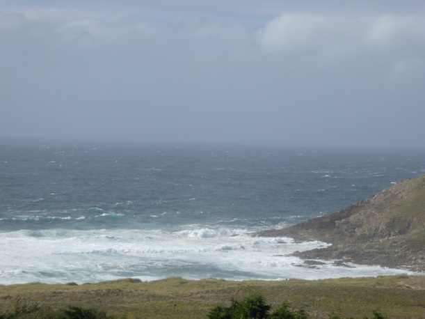 View of Atlantic from our room in Finisterre.