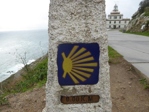 Zero km. marker in Finisterre.