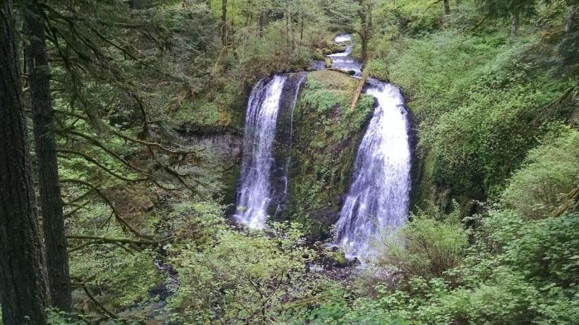 Upper McLoud Creek Falls.