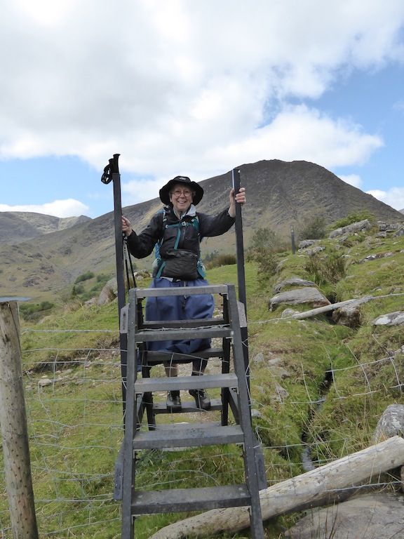 I climbed the stile.