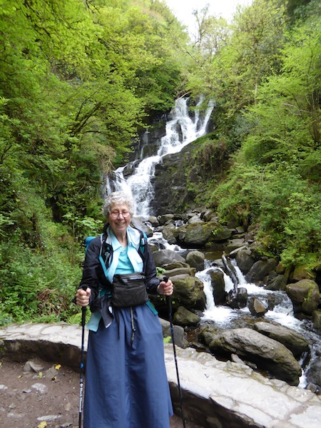 Here I am by the waterfall in Black Valley.