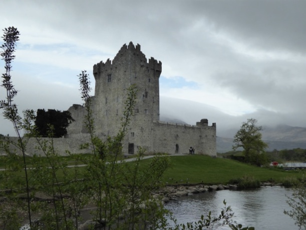 This is Ross Castle in Black Valley, Ireland.