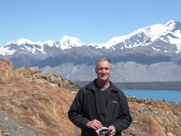Here is Andy at Upsala Glacier.