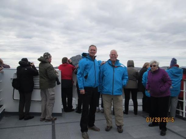 My friends were on the deck as we passed Cape Horn.