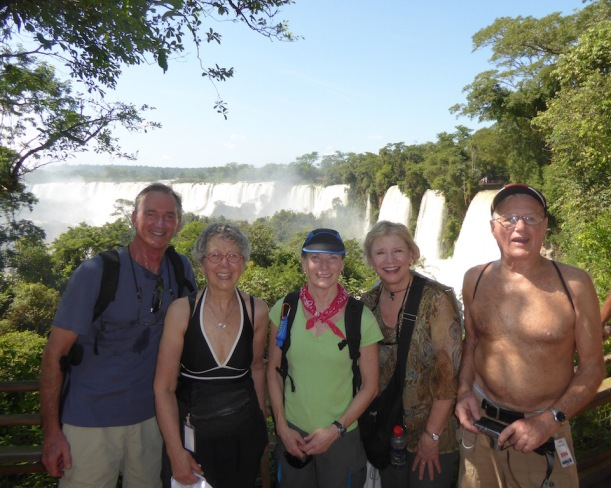 Andy, Nancy, Kris, Robin and Carl at Iguazú Falls.