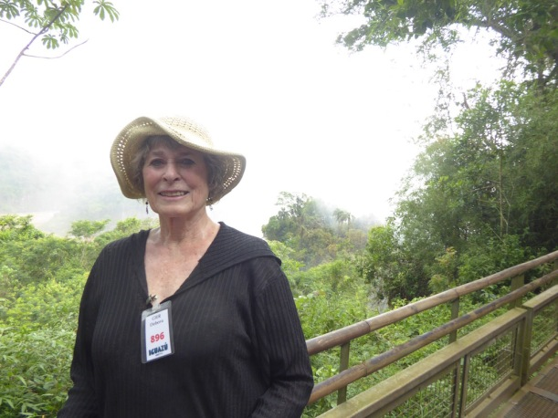 This is Ann at Iguazú Falls.