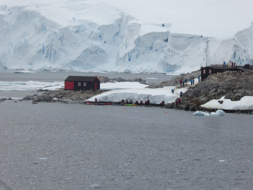 We are approaching Port Lockroy.