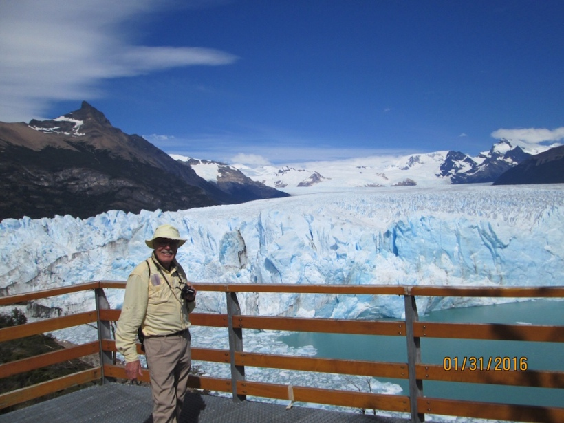 John is in front of Perito Moreno Glacier.