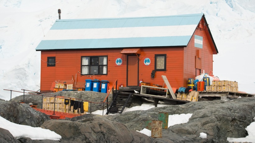 This is Base Brown in Antarctica.