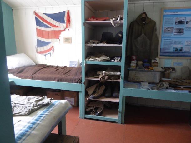 Bunk bed at Port Lockroy
