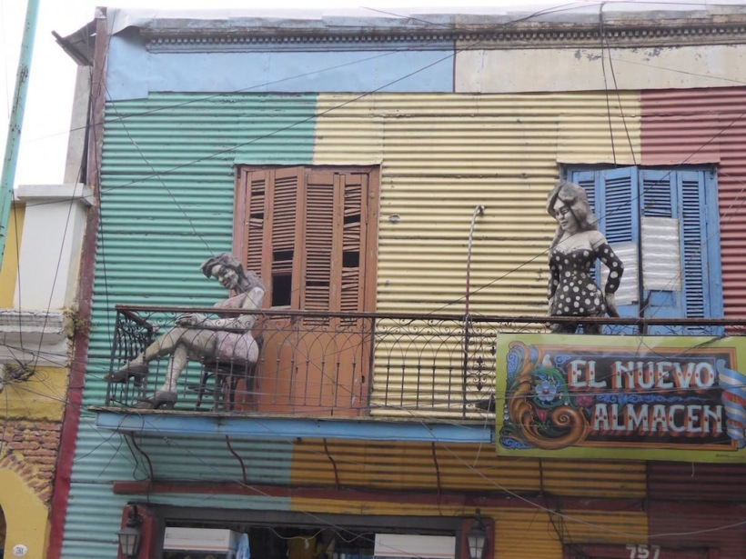 This is an example of treet art in La Boca