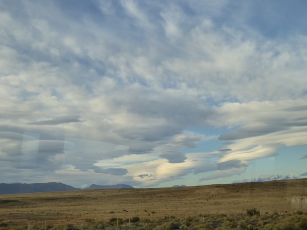 We saw these cloud formations from the bus.