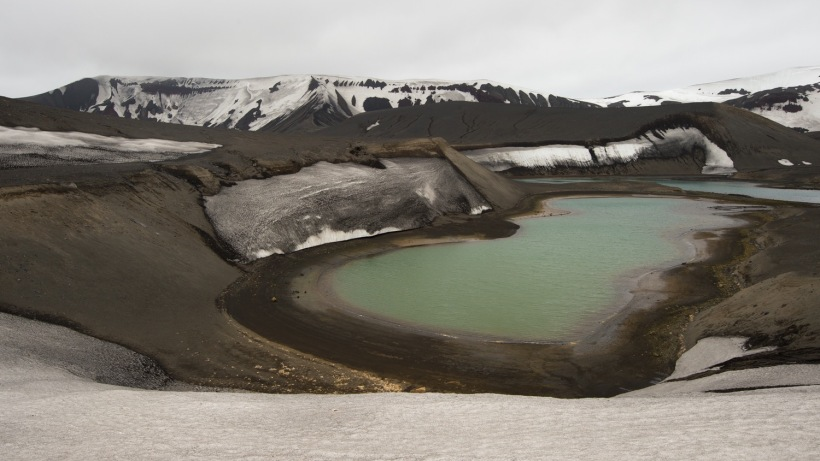 Looking down into crater on Deception Island